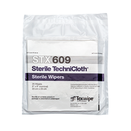 Sterile TechniCloth® STX609 Nonwoven, Dry and Sterile Cleanroom wipers