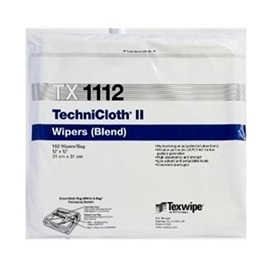 TechniCloth® II TX1112 Dry, Non-Sterile, cellulose/polyester, nonwoven wipers