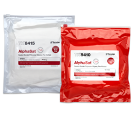Picture of AlphaSat® with Vectra® Alpha® 10 Pre-Wetted Cleanroom Wipers, Non-Sterile