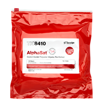AlphaSat TX8410  100% IPA, Non-sterile, sealed border, polyester wipers pre-wetted