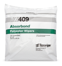 Absorbond® TX409 Dry, Non-Sterile, 100% polyester, nonwoven wipers