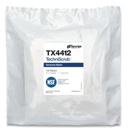 TechniScrub TX4412 Dry Cleanroom Wipers, Non-Sterile