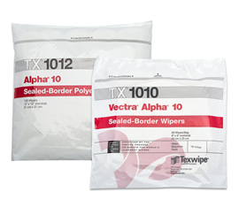 Vectra® Alpha® 10 Dry Cleanroom Wipers, Non-Sterile
