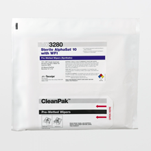 AlphaSat® with Vectra® Alpha® 10 TX3280 Pre-Wetted Cleanroom Wipers, Sterile