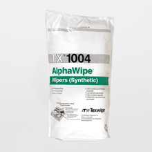 AlphaWipe TX1004 Dry, Non-Sterile, 100% polyester, cut-edge wipers
