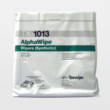 AlphaWipe TX1013 Dry, Non-Sterile, 100% polyester, cut-edge wipers